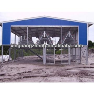 Color steel fold roofing plate structure warehouse for chicken shed