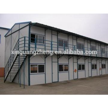 Mature design 100m2 double story prefab house low cost high quality