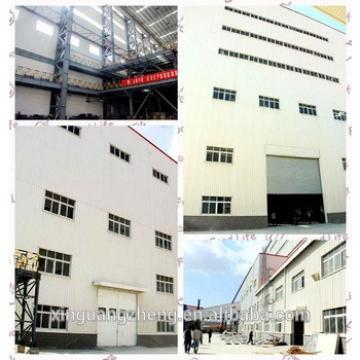 Pre-engineering industrial double slope galvanized steel structural frame warehouse building