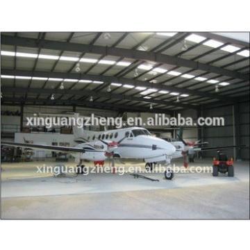 construction steel structure light aircraft hangar