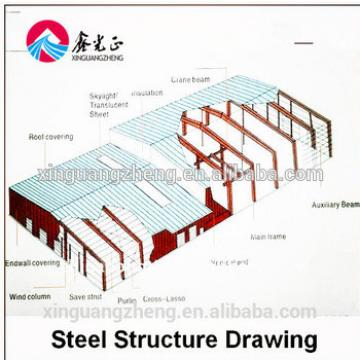 10000 square meters steel structure warehouse with crane for machine produing