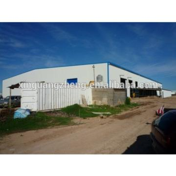 Steel structure installation Industral hall