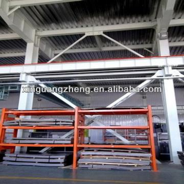 High-rise steel structure construction warehouse glass & steel prefab building