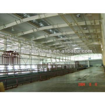 anti-earthquake light metal roof prefab warehouse steel construction