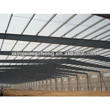 large span fabricated lightweight steel frame structure warehouse