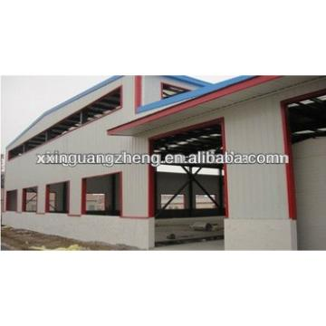 large span prefab lightweight steel frame structure warehouse building