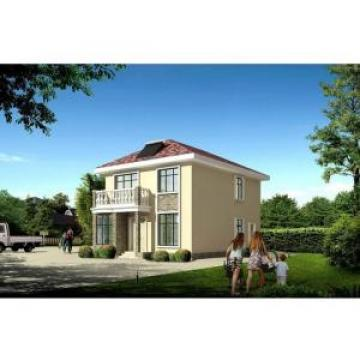 House Prefabricated , Two floors Prefab Steel House With Long Lifetime