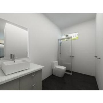 White Light Steel  Prefabricated Villa  Houses With Washbasin , Shower