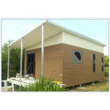 Australia Style Prefab House Kits , Modern Prefab House With WPC As Exterior Wall Cladding