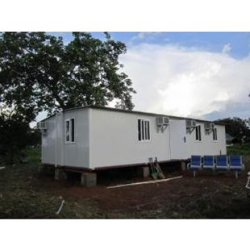 Sandwich Panel White Foldable Emergency Shelter / Steel Frame Foldable House