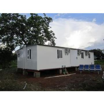 Modular Portable Emergency Shelter , Foldable Prefabricated Homes / Corrugated Tiles