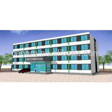 20ft ISO flat packed four storey prefab container office steel structure