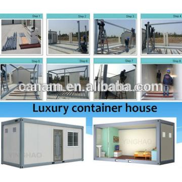 CANAM- Prefab container house with water and electricity