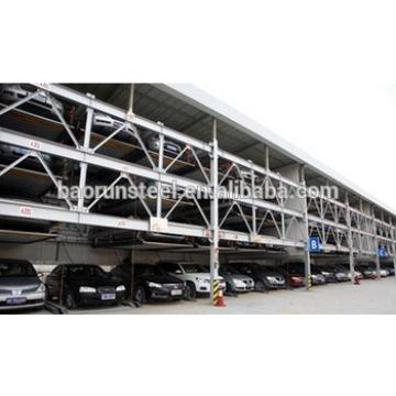 Smart vertical lifting steel structure parking garage car parking system