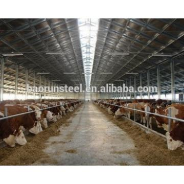 large steel structure shed