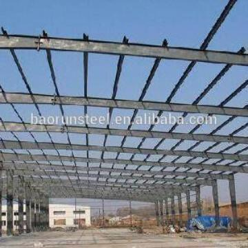 Prefabricated steel construction building factory costs for big scale workshop