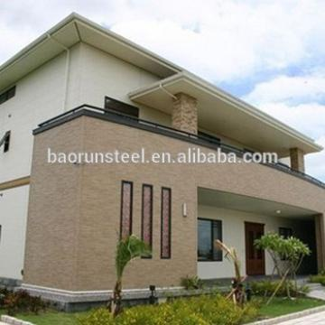 steel structure prefabricated residential house with roof platform