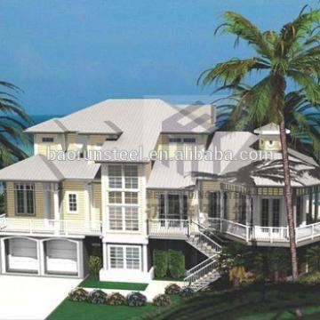 Light frame prefabricated home modular homes smart steel construction beach house