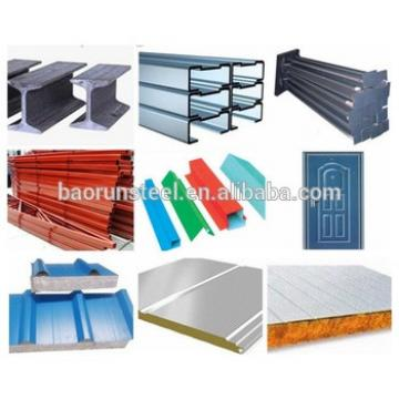 Prepainted corrugated sheet building material