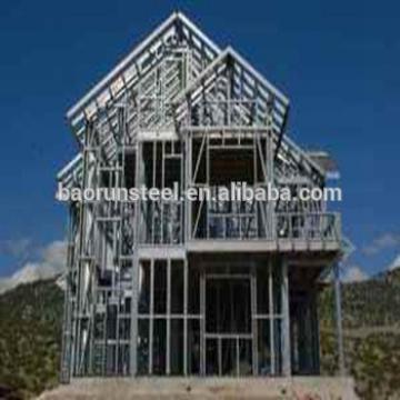 Low Cost luxury prefab light steel structure villa house