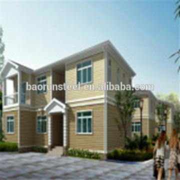 prefabricated villa, steel structure wooden villa for accommodation