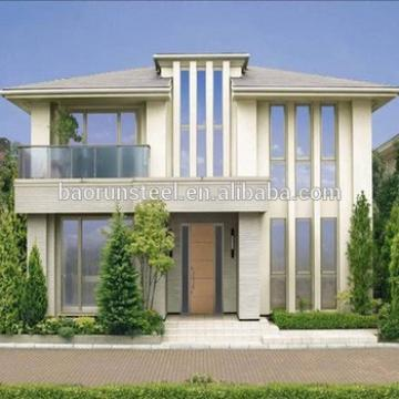 high quality light steel structure prefab villa house in china