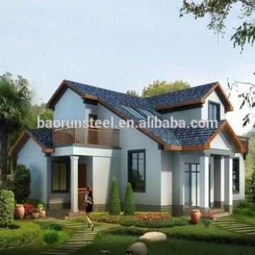 comfortable design and european style luxury certificated prefab light steel structure villa
