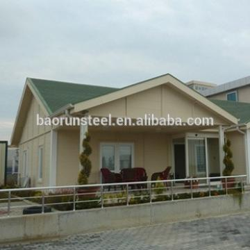 light steel villa , 3bedroom prefab house , sandwich panel house