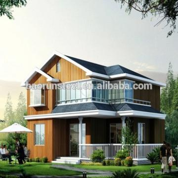 Luxury villa with modern steel main frame