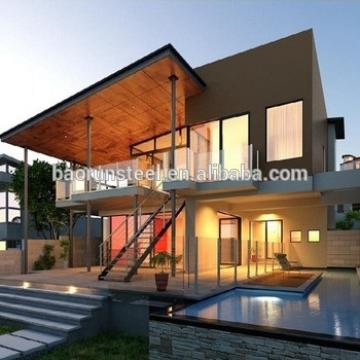 Luxury modern steel economic prefab house villa