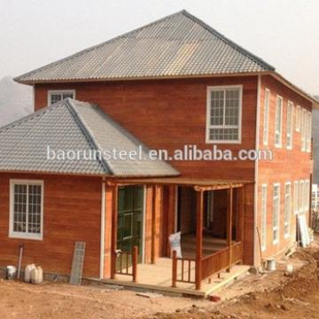 The costly style of light steel structure villa house architecture and model