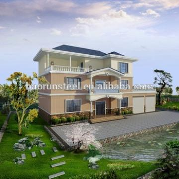high quality villa house with glass doors for family,one bedroom homes