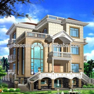 modern small villa house with doors with walking board