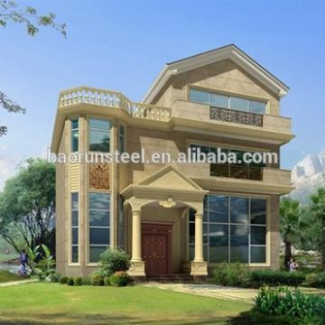prefab light steel structure house/cheap mordern prefab villa