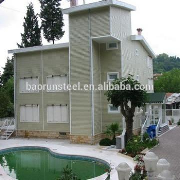 low cost cheap small steel frame house villa for sale