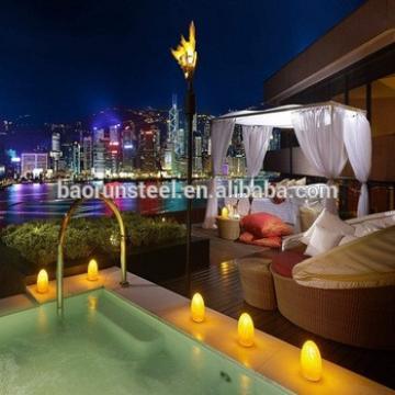2015 new design luxury prefab steel villa for sale