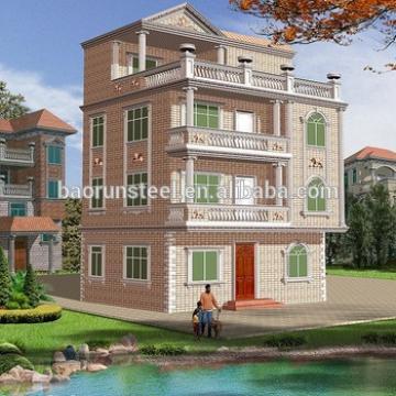 2015 new style/high quality / luxury prefab steel villa,light steel villa