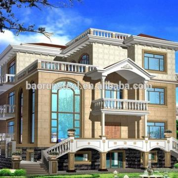 Hotel,House,Office,Shop,Villa Use and Light Gauge Steel Material light steel frame house