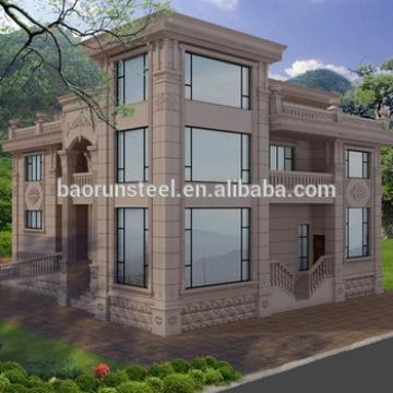 Low Cost Prefabricated Sandwich Panel Wall Cladding Light Steel Villa / prefabricated hotel / light steel modular homes