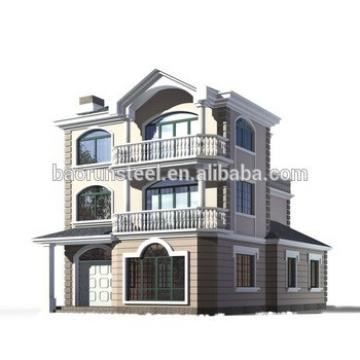 light steel villa prefabricated houses,hotel,home with natural wooden style