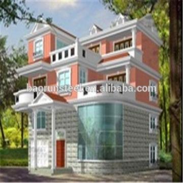 China convenient fireproof morden luxury steel prefabricated luxury villas