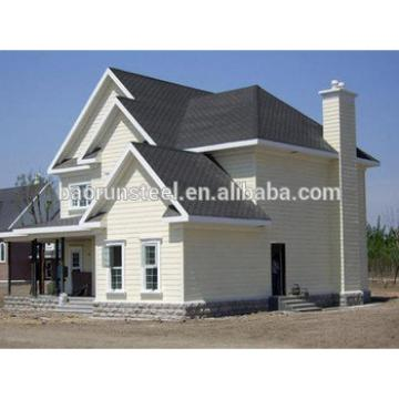 Galvanized steel structure villa independent house/family house use steel frame