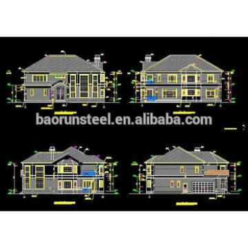 steel structure light weight frame construction villa house