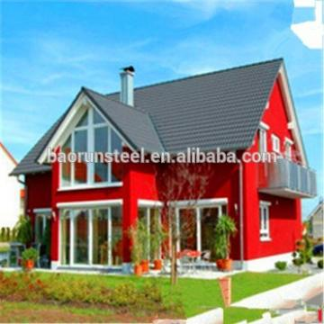 Lasting color light weight spanish style tile roofing for prefabricated villa
