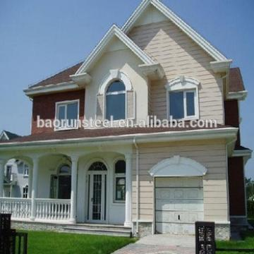 Two Storeys Modern Style Light Gauge Steel Frame Prefabricated Villa