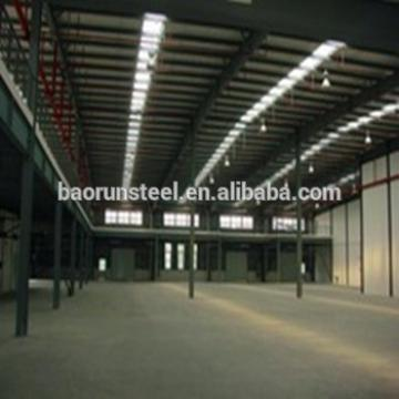 Prefab designed light industrial steel structure fabricated warehouse