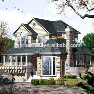 Two Storeys Luxury Modern Design China Manufacture Supplier Low Cost Light Gauge Framing Prefab Steel Houses Best Price