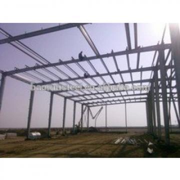 Resist light snow steel frame structure building for storage
