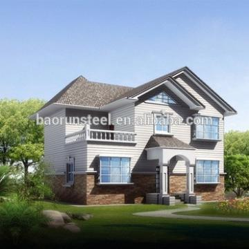 China baorun provide good model prefab house villa,prefab kit homes