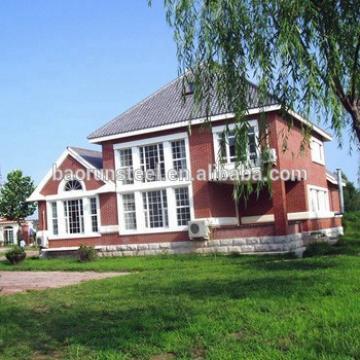 the newest design hot sale ligt steel villa house